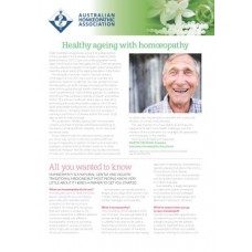 WellBeing Insert - Healthy Ageing with Homoeopathy